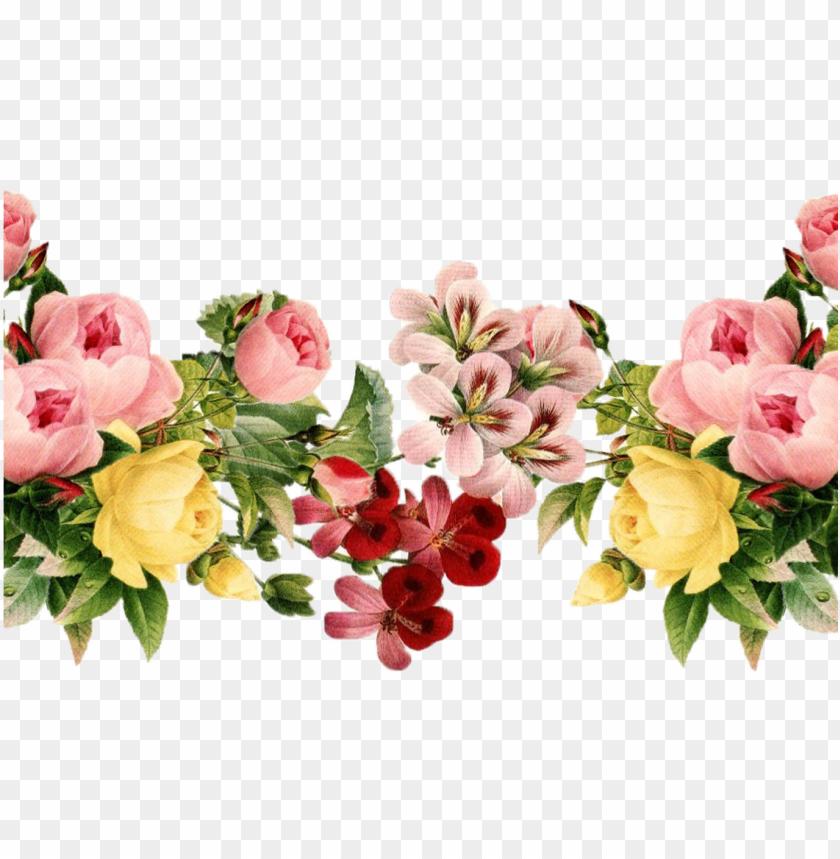 free PNG reen flower border png 9609105 sciencemadesimpleinfo - vintage floral floral border PNG image with transparent background PNG images transparent