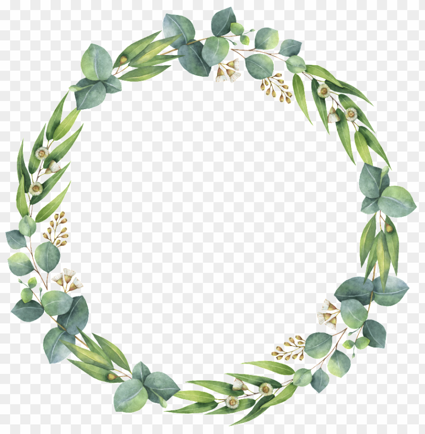 free PNG reen leaf wreath decoration simple and transparent - wreath leaf watercolor transparent PNG image with transparent background PNG images transparent