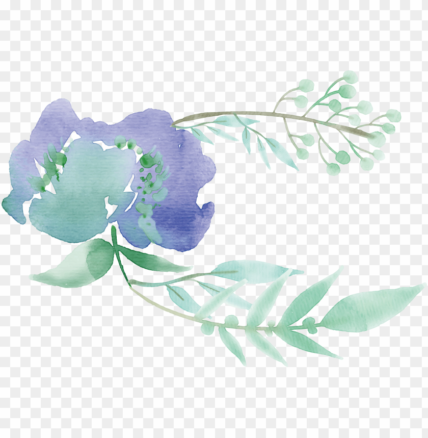 free PNG reen watercolor painting flower mentha spicata - green flower watercolor PNG image with transparent background PNG images transparent