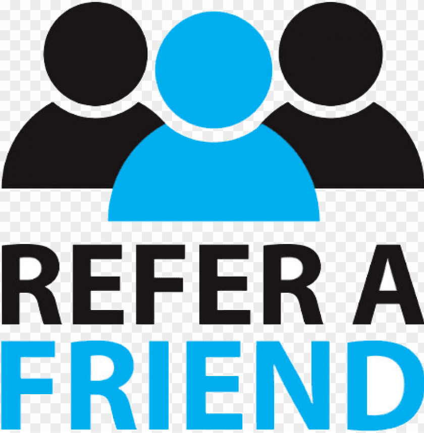 free PNG refer a friend program - recommend to a friend logo PNG image with transparent background PNG images transparent