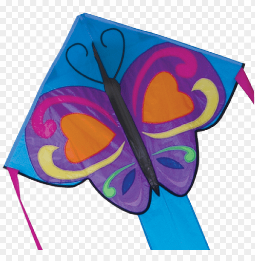 free PNG regular easy flyer kite - premier kites & designs easy flyers, sweetheart-butterfly, PNG image with transparent background PNG images transparent