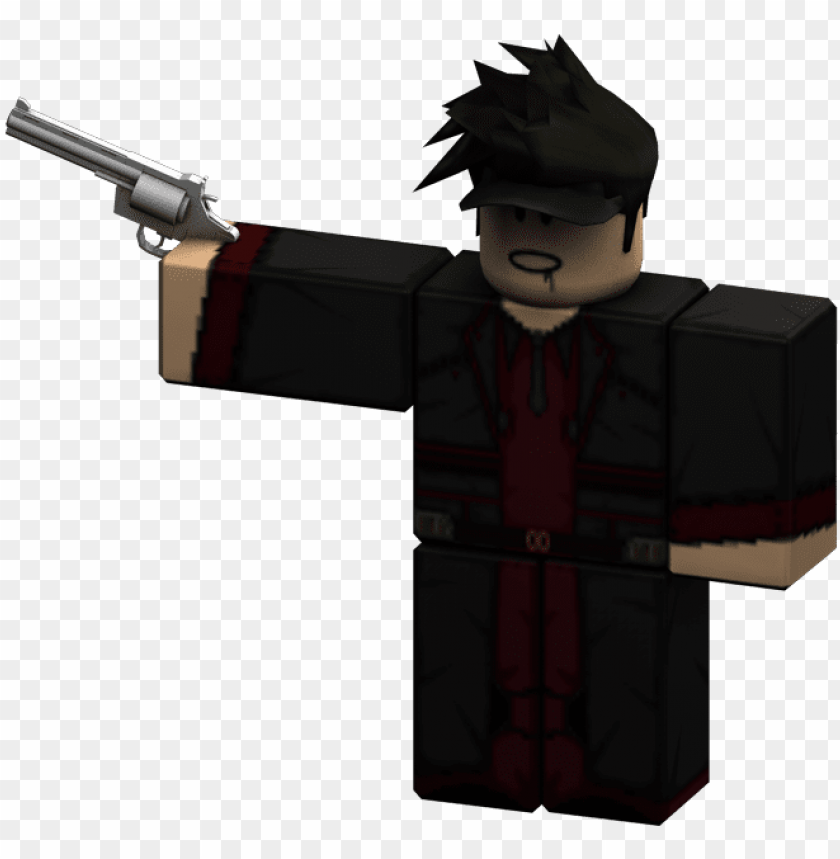 Rendered Revolver Roblox Man With Gu Png Image With Transparent
