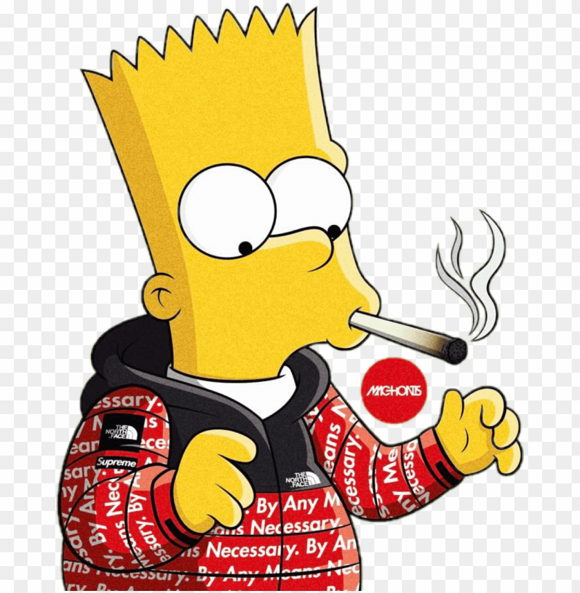 Report Abuse Bart Simpson Smoking Weed Png Image With