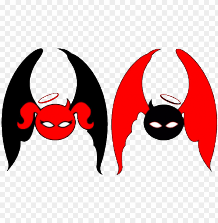 free PNG report abuse - devil and angel logo PNG image with transparent background PNG images transparent