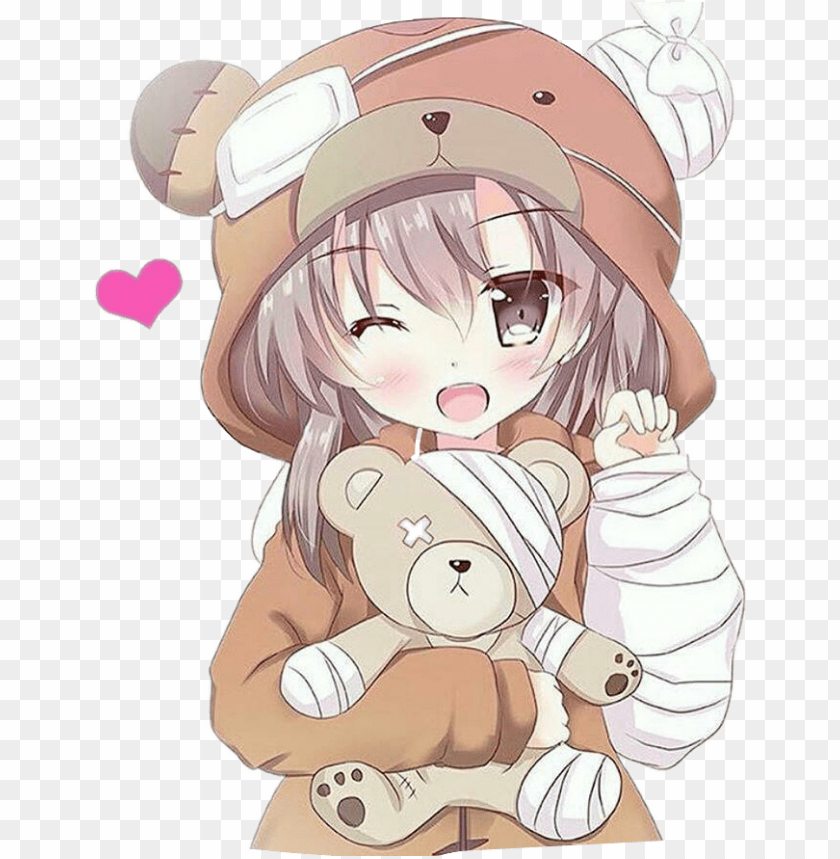 Report Abuse Kawaii Anime Bear Girl Png Image With Transparent Background Toppng