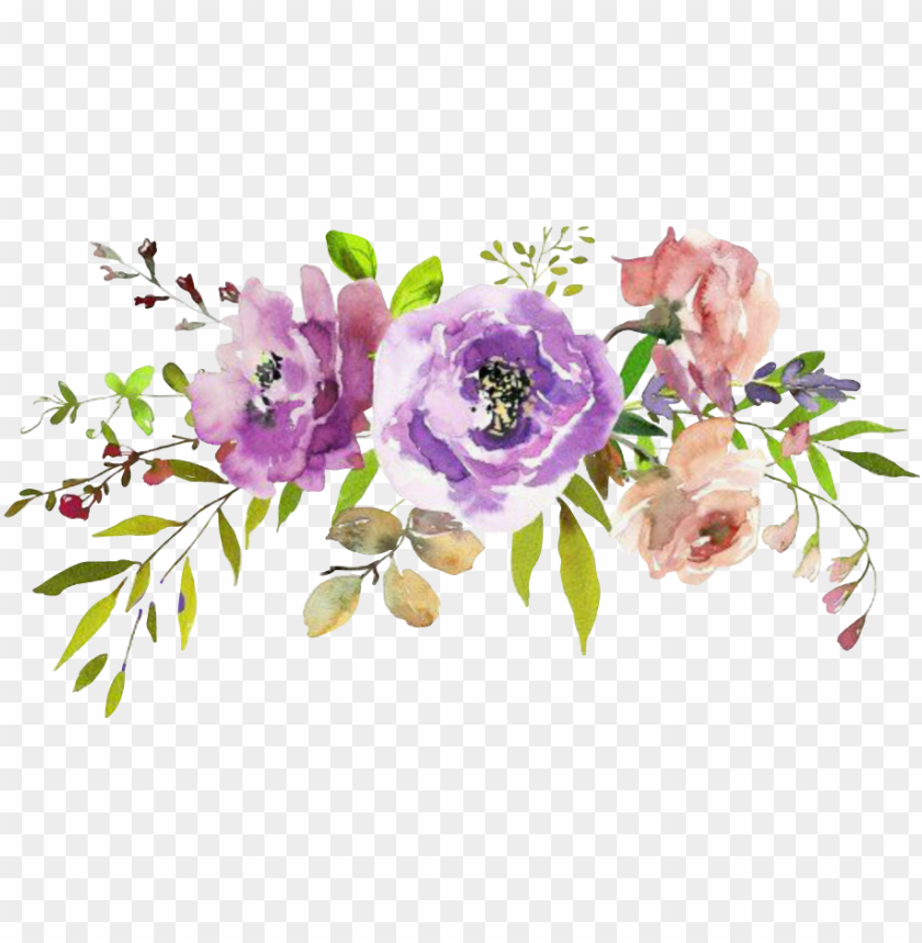 free PNG report abuse - spring purple watercolor flowers PNG image with transparent background PNG images transparent