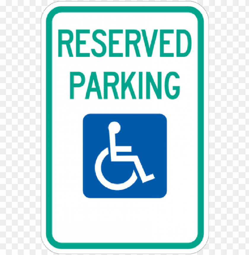 free PNG reserved handicap parking sign with symbol - reserved parking (handicapped symbol and left arrow) PNG image with transparent background PNG images transparent