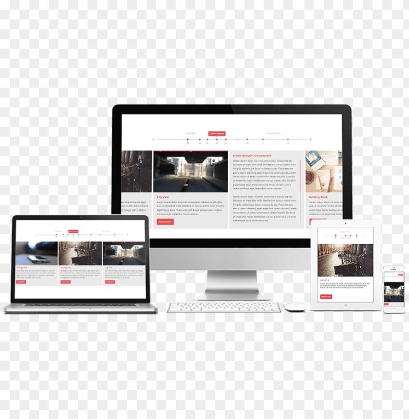 free PNG responsive website design - website PNG image with transparent background PNG images transparent
