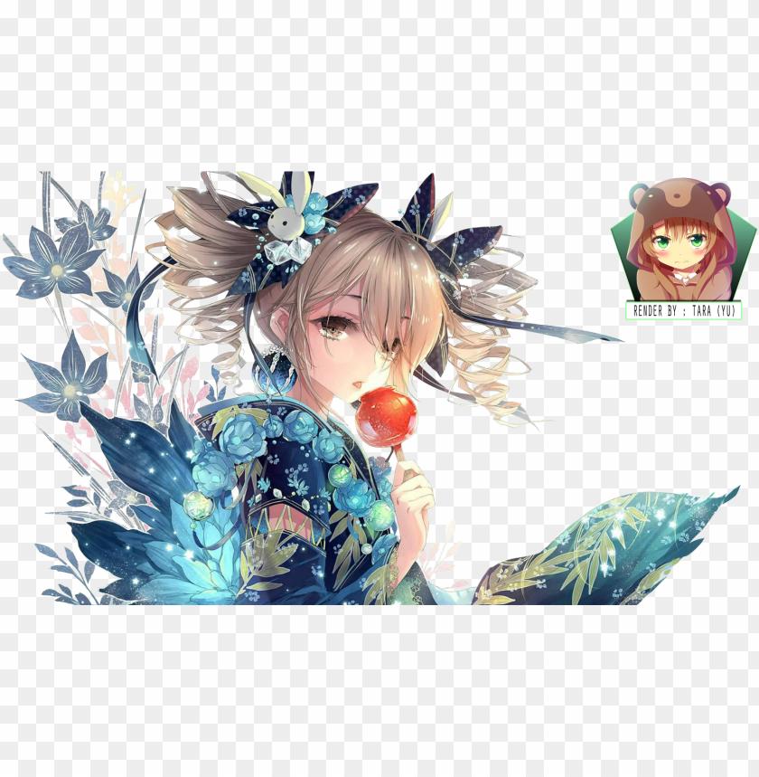 free PNG resultado de imagem para anime flower girl - anime flower girl render PNG image with transparent background PNG images transparent