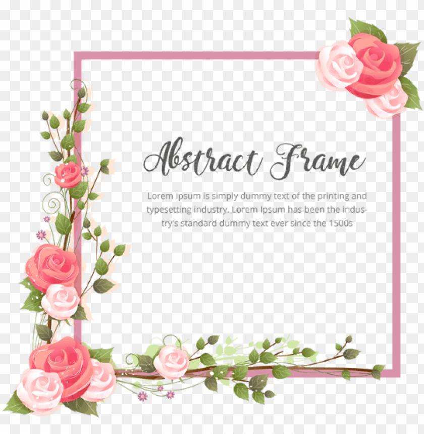 free PNG resumen de marco flor rosa con ramas - marco de flores PNG image with transparent background PNG images transparent