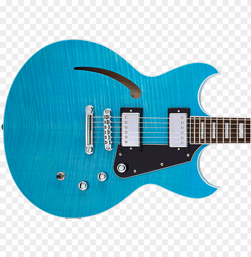 free PNG reverend manta ray hb sky blue flame maple - electric guitar PNG image with transparent background PNG images transparent
