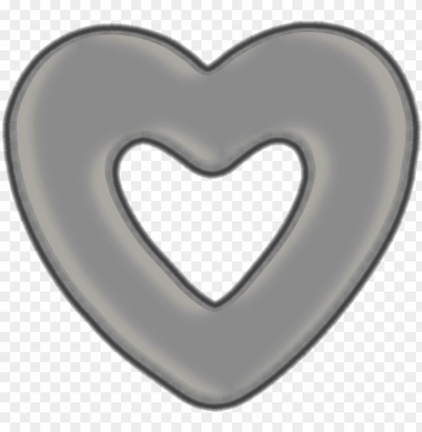 Ri Kalp Resmi Gri Kalp Png Image With Transparent Background Toppng
