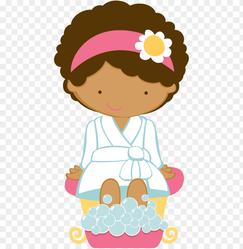 free PNG ricardo black girl png clip art free vector 4vector - spa party invitations PNG image with transparent background PNG images transparent