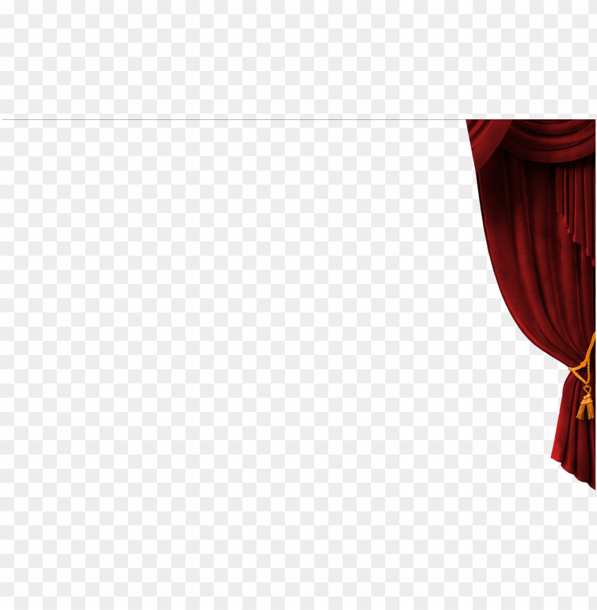 free PNG right drape of red curtain - theater curtai PNG image with transparent background PNG images transparent