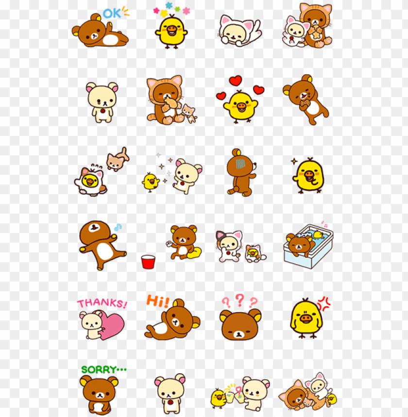 free PNG ผลการค้นหารูปภาพสำหรับ rilakkuma stickers kawaii stickers, - rilakkuma stickers line PNG image with transparent background PNG images transparent