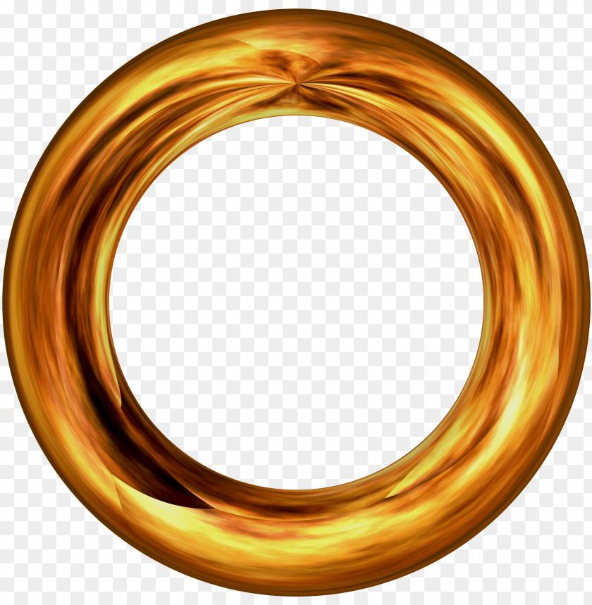 Ring About Golden Pattern Circle 449331 Círculo Dourado Em