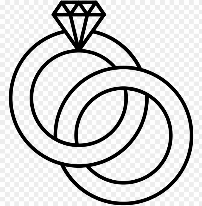 Ring Drawing Wedding Band Cincin Pernikahan Vektor Png