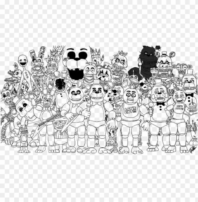 Rint Family Five Nights At Freddys Fnaf 2 Coloring Sister