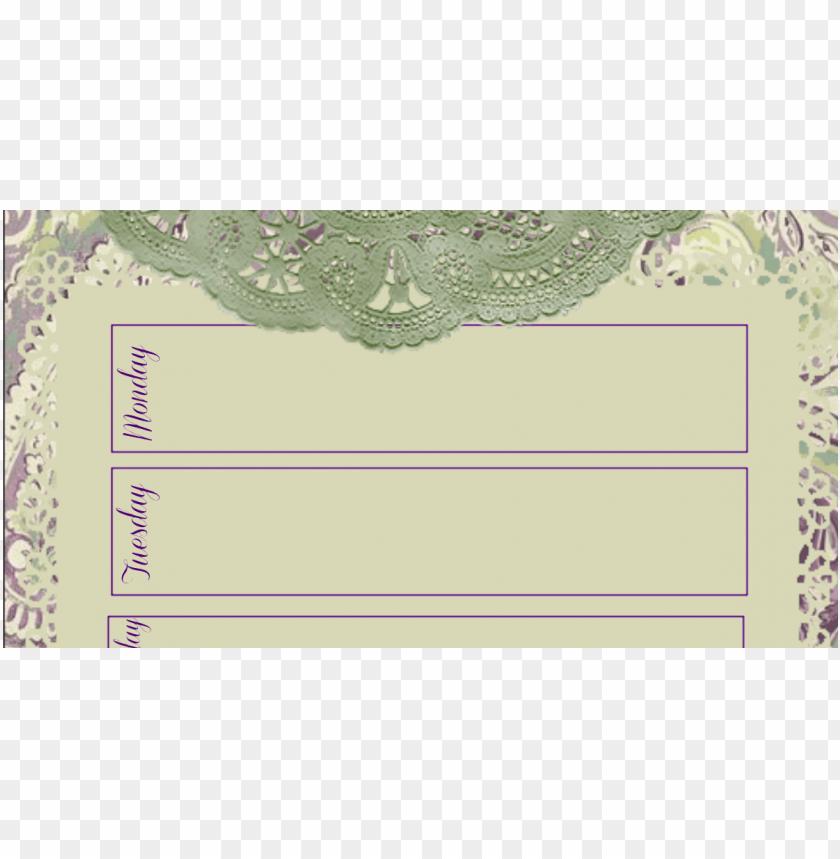 free PNG rintable week at a glance calendar printable calendar - paper PNG image with transparent background PNG images transparent