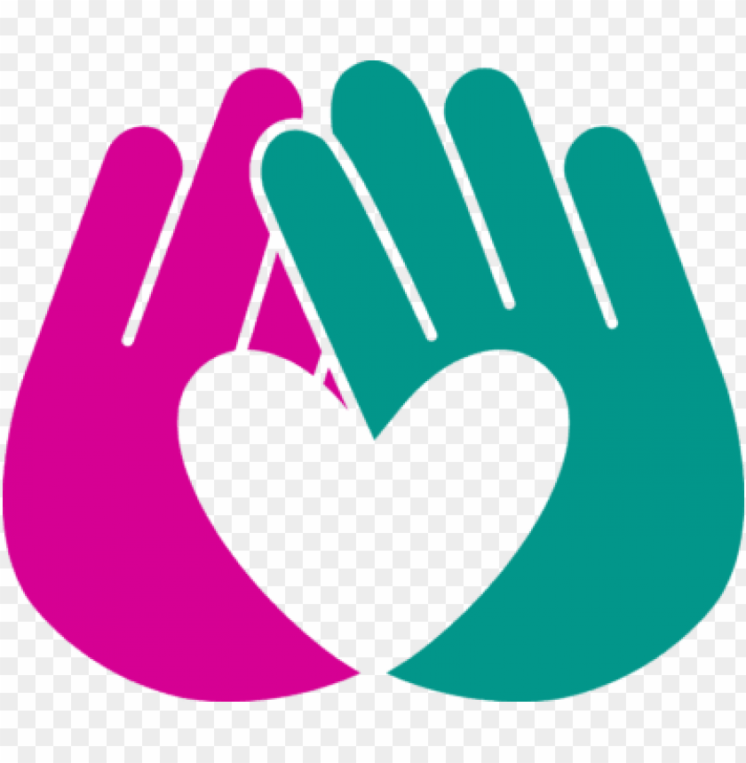 free PNG rise up against bullying - two hands making a heart logo PNG image with transparent background PNG images transparent