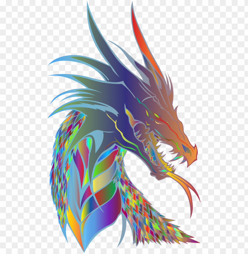 free PNG rismatic big image png - mythical creature head drago PNG image with transparent background PNG images transparent