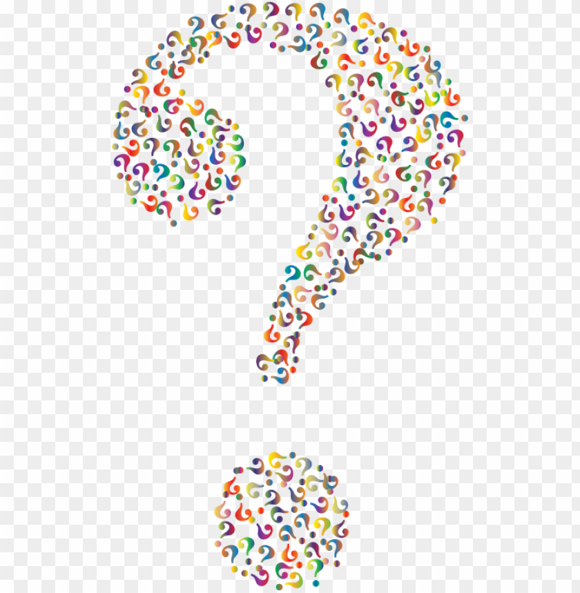 free PNG rismatic question mark fractal 4 no background - question marks with no background PNG image with transparent background PNG images transparent