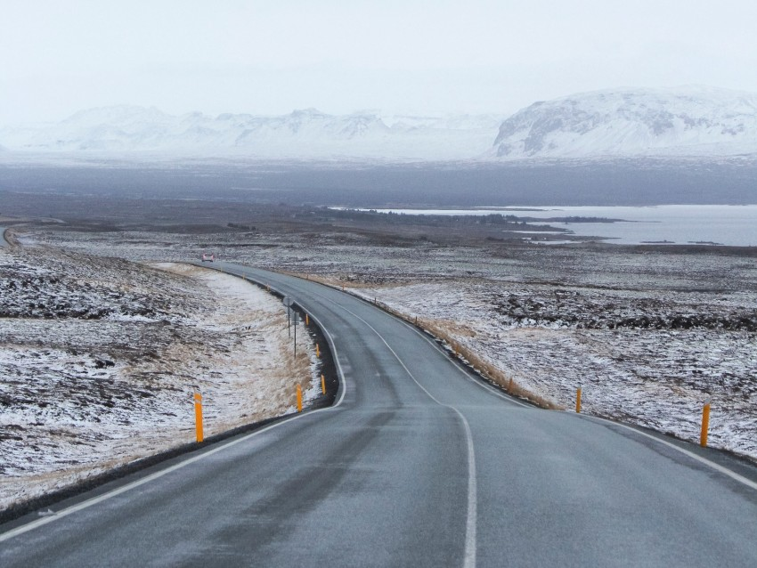 free PNG road, asphalt, snow, turn, direction, marking background PNG images transparent