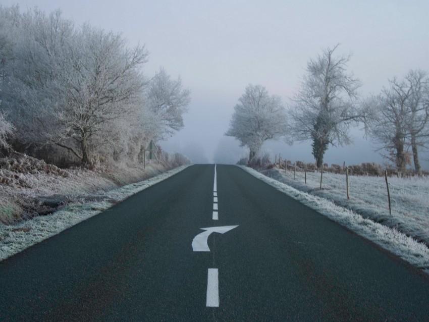 free PNG road, fog, asphalt, arrow, frost, marking background PNG images transparent