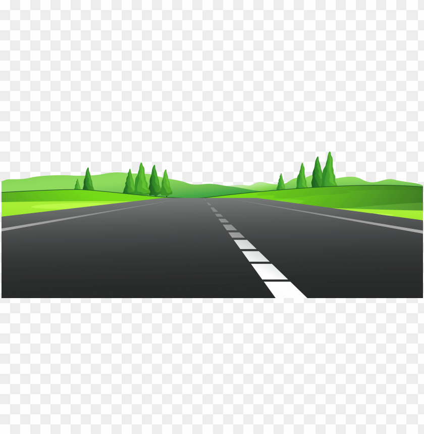 free PNG Download road | high way with grass clipart png photo   PNG images transparent