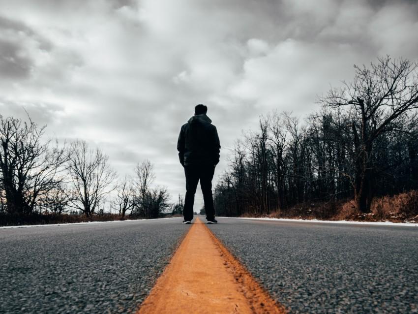 free PNG road, loneliness, silhouette, marking, asphalt background PNG images transparent
