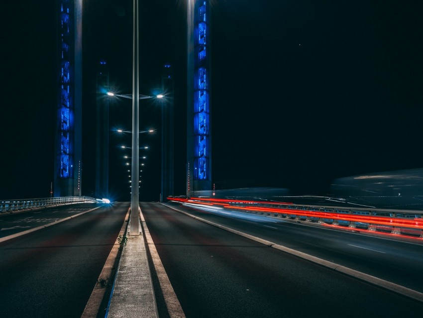 free PNG road, long exposure, night, marking, light background PNG images transparent