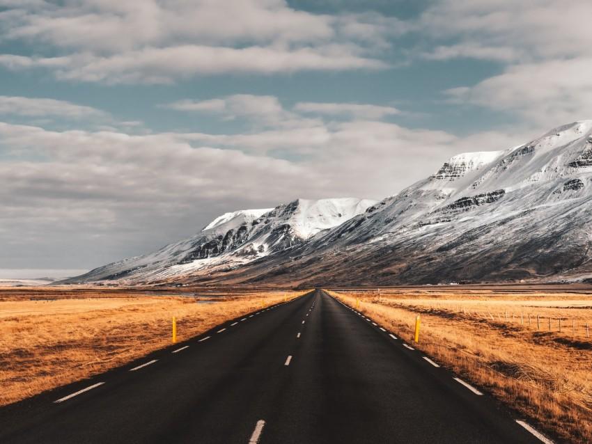 free PNG road, mountains, iceland, marking, asphalt background PNG images transparent