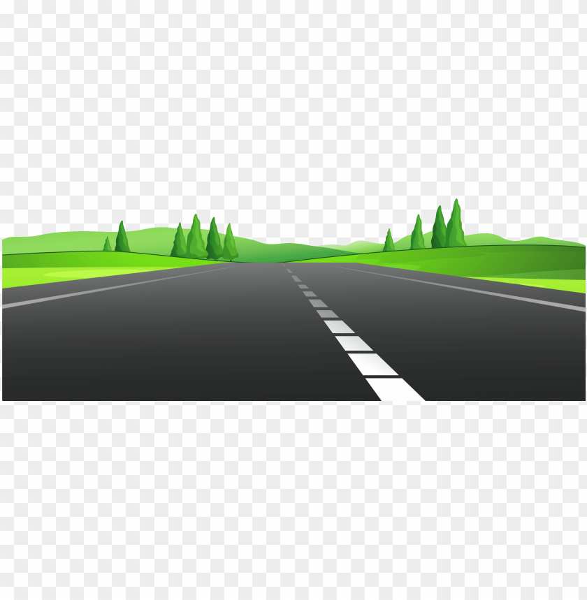 Road With Grass Png Clipart Road Clipart Png Image With Transparent Background Toppng