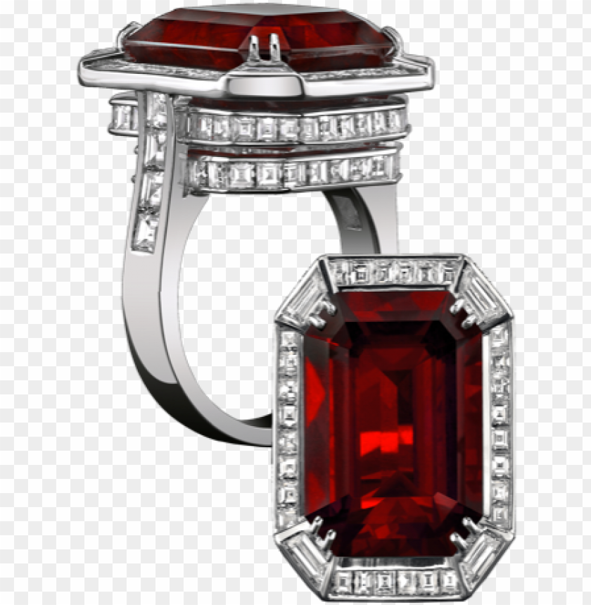 free PNG robert procop important gem collection 11ct ruby diamonds - red emerald cut sterling silver ring jewelry gift anniversary PNG image with transparent background PNG images transparent