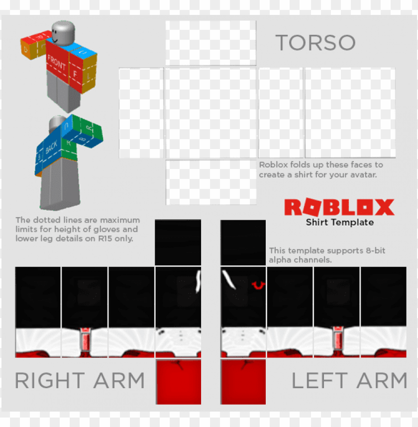 roblox shirt template transparent 2019 Roblox Templates Png Image With Transparent Background Toppng
