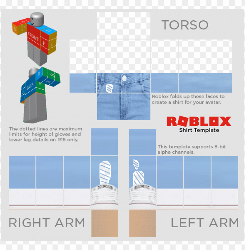 roblox shirt template transparent 2019 Roblox Templates Roblox Template Twitter Roblox Shirt Template 2018 Png Image With Transparent Background Toppng