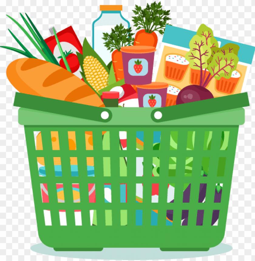 free PNG roceries vector food basket png freeuse - grocery basket clip art PNG image with transparent background PNG images transparent