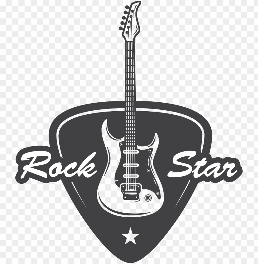 Rock Rockstar Star Guitar Png Vector Thumbsup Hand Rock Guitar Transparent Png Image With Transparent Background Toppng