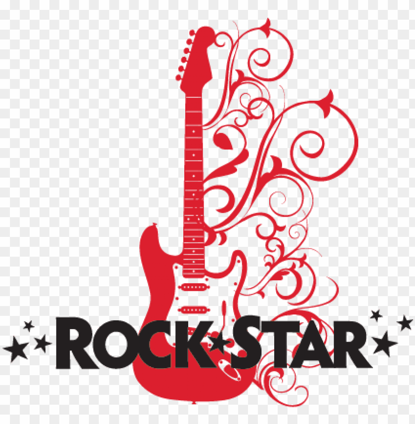 free PNG rock star with embellished guitar wall decal - transparent rockstar guitar PNG image with transparent background PNG images transparent