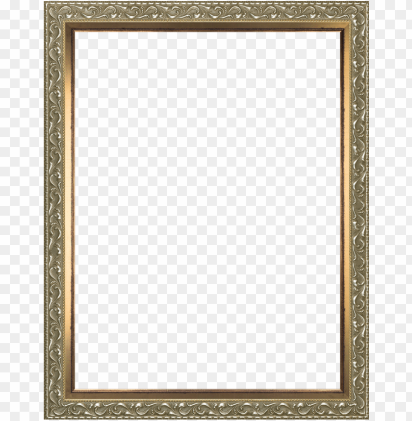 free PNG rococo silver and burnished gold custom stacked frame - gold and silver frame PNG image with transparent background PNG images transparent