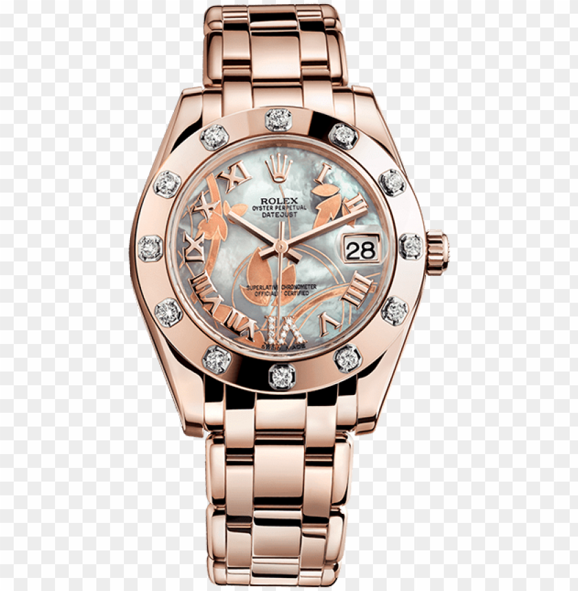 free PNG rolex m81315 datejust special edition - rolex rose gold wome PNG image with transparent background PNG images transparent