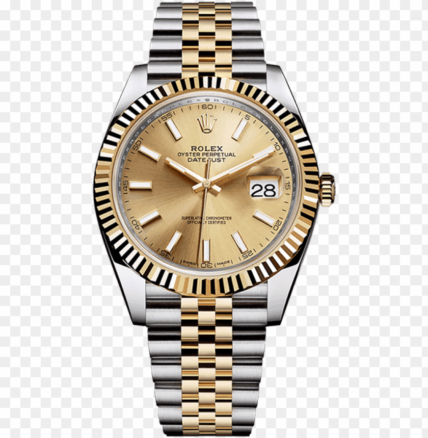 free PNG rolex - rolex datejust 41 gold PNG image with transparent background PNG images transparent