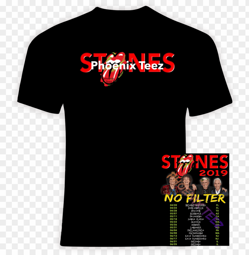 free PNG rolling stones 2019 concert tour 'no filter' - pink tour merchandise 2018 PNG image with transparent background PNG images transparent