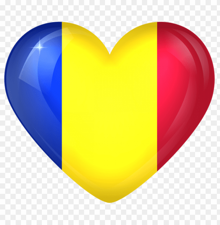 free PNG Download romania large heart flag clipart png photo   PNG images transparent