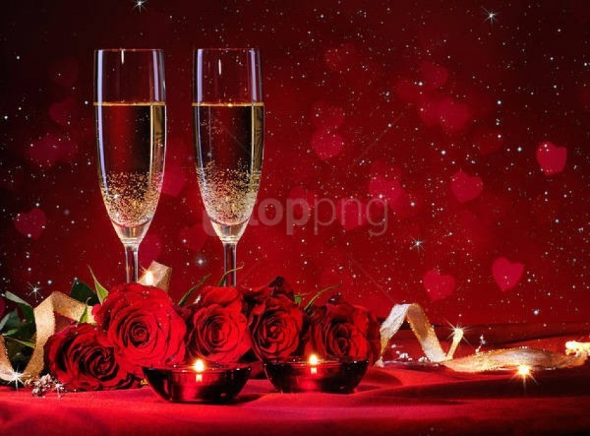 free PNG romantic redwith roses background best stock photos PNG images transparent