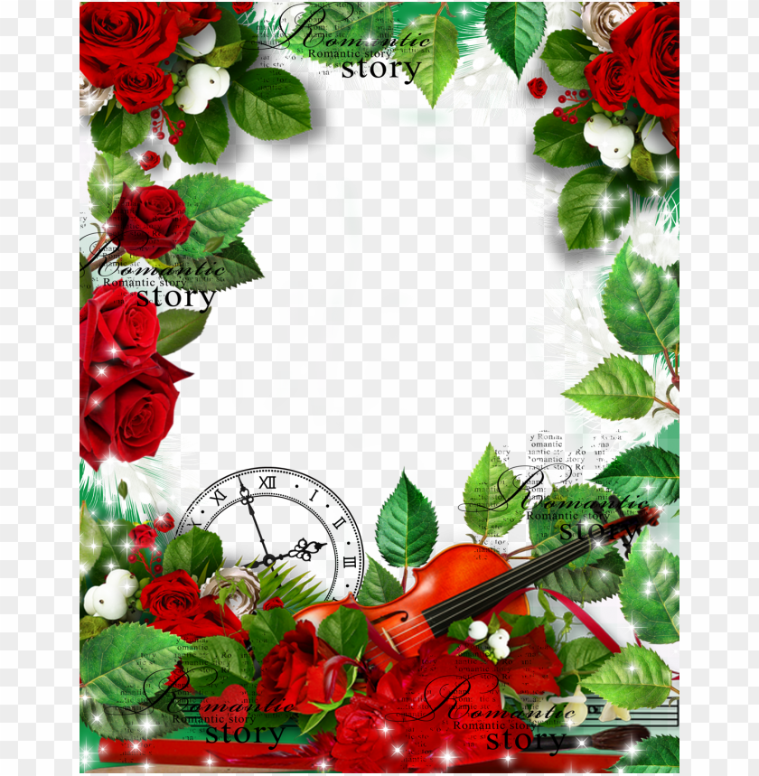 free PNG romantic story transparent frame with red roses background best stock photos PNG images transparent