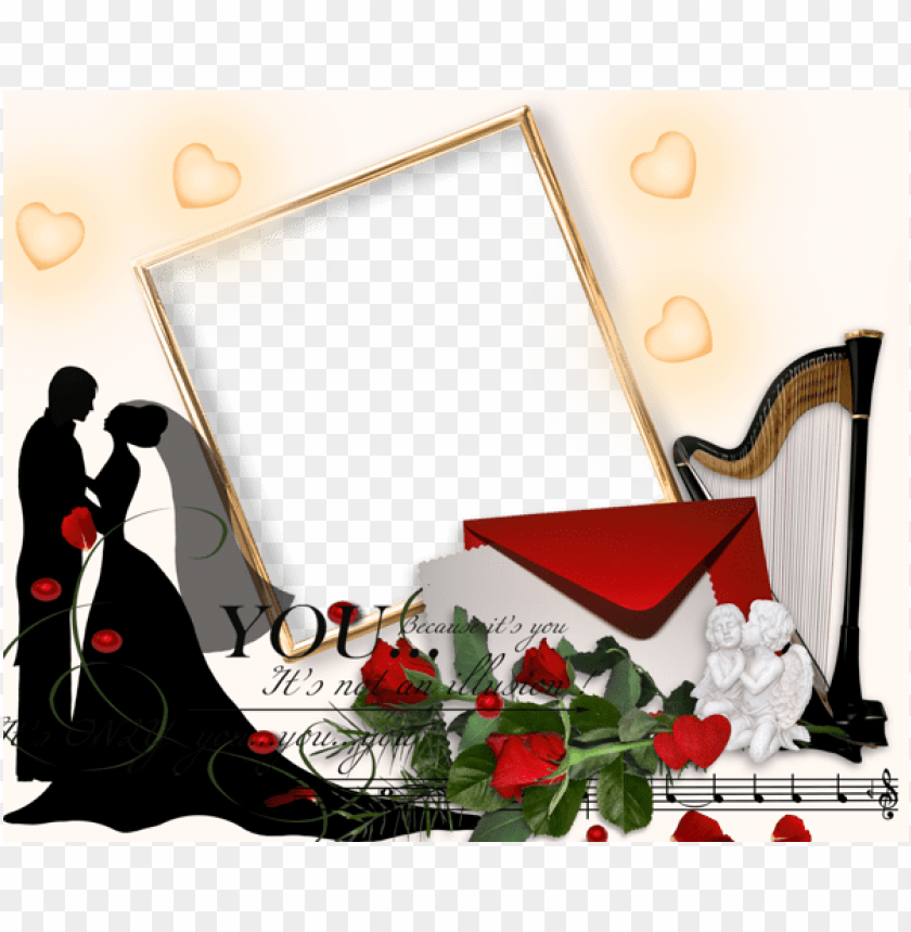Romantic Wedding Png Photo Frame Frame Wedding Day Png
