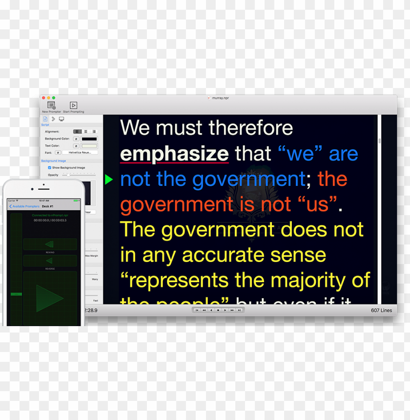 free PNG rompt teleprompter for mac - ios PNG image with transparent background PNG images transparent