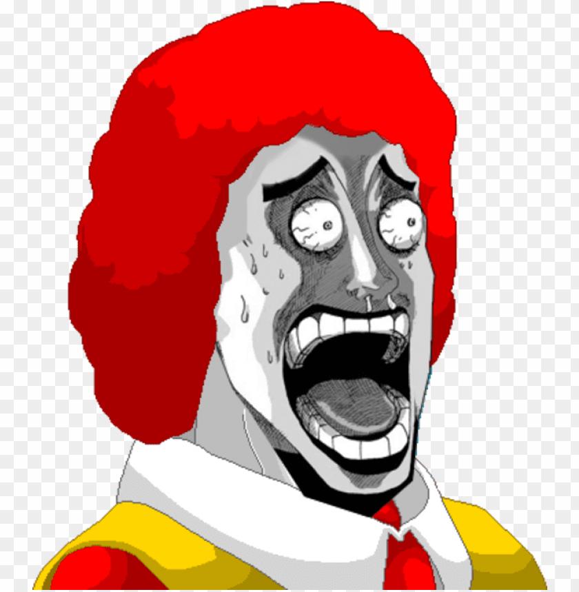 free PNG ronald mcdonald shock face by donalddesu-d5r0lci - ran ran ru meme PNG image with transparent background PNG images transparent
