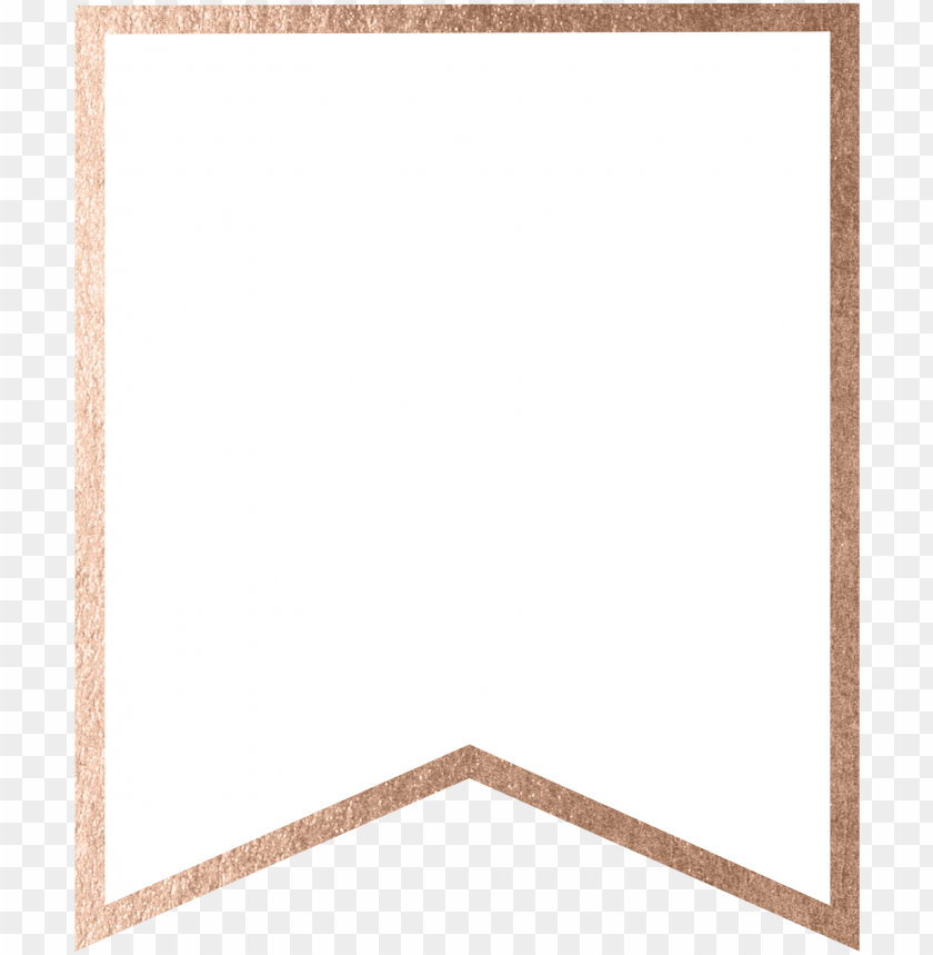 Rose Gold Banner Template Free Printable Blank Png Image